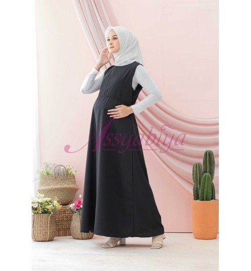Sleeveless Dress Katun Hitam