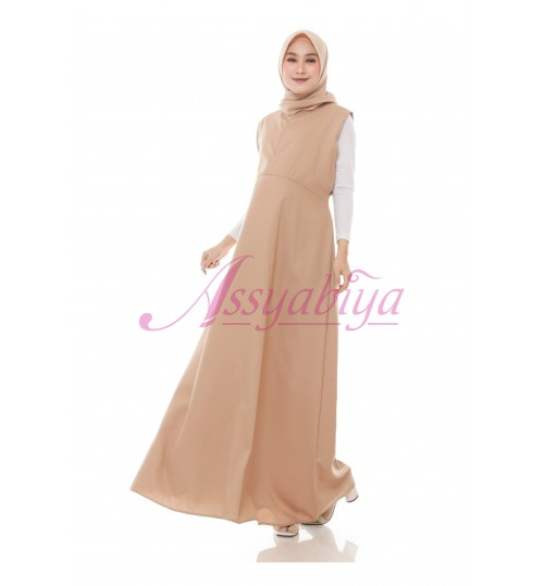 Dress Hamil Katun Khaki