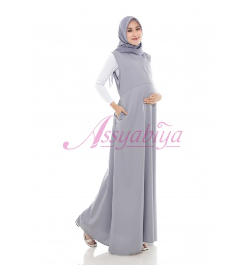Sleeveless Dress Katun Abu