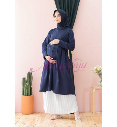 Zea Tunik Navy (Bumil & busui friendly)
