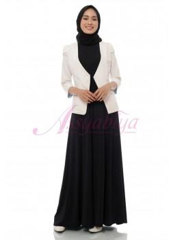 Sleeveless Dress Jersey Hitam