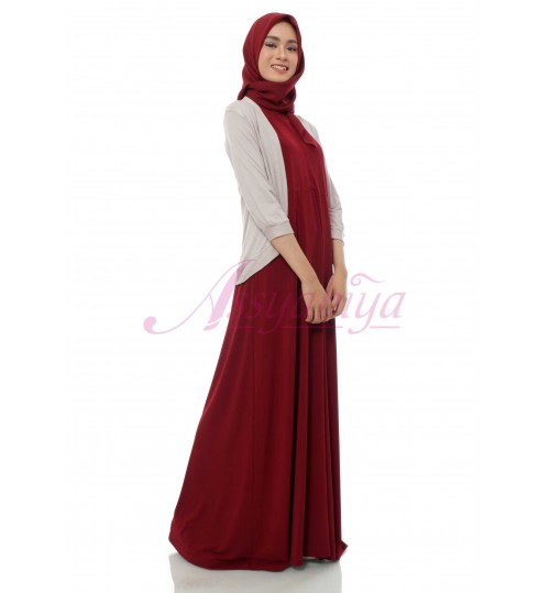 Sleeveless Dress Jersey Maroon