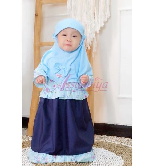 Gamis Bayi Maura Biru