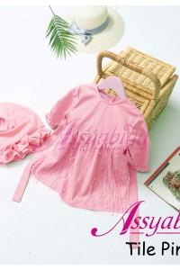 Gamis Bayi Mewah Tile Pink